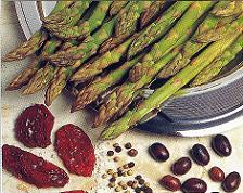 Ingredients of Pan Cooked Asparagus with Olives and Preserved Tomatoes
