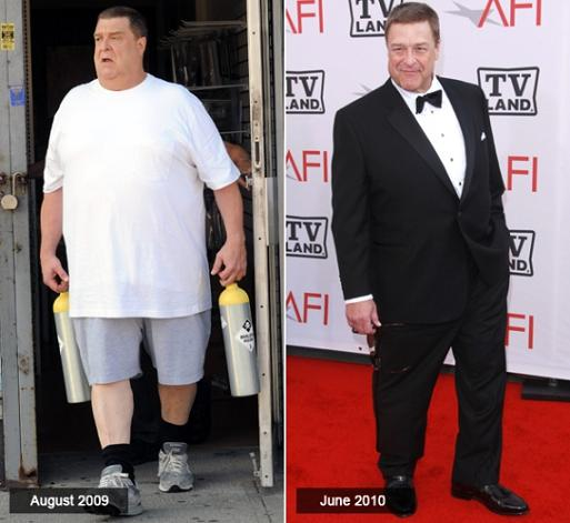 John Goodman before and after weight loss photos