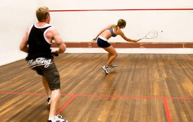 Playing squash for weight loss