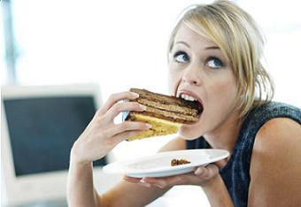 woman having food cravings