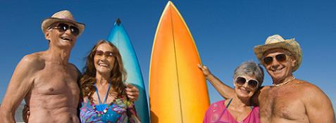 old people surfing for health