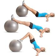 ball bridge leg curls